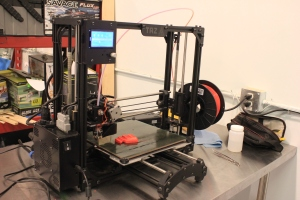 One of the 3D printers.