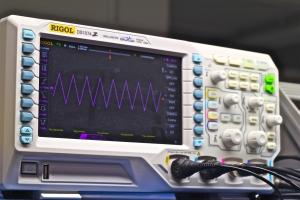 One of the oscilloscopes.